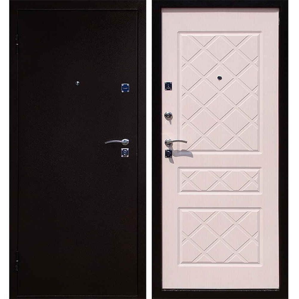 Входная дверь Форпост Эко (беленый дуб)