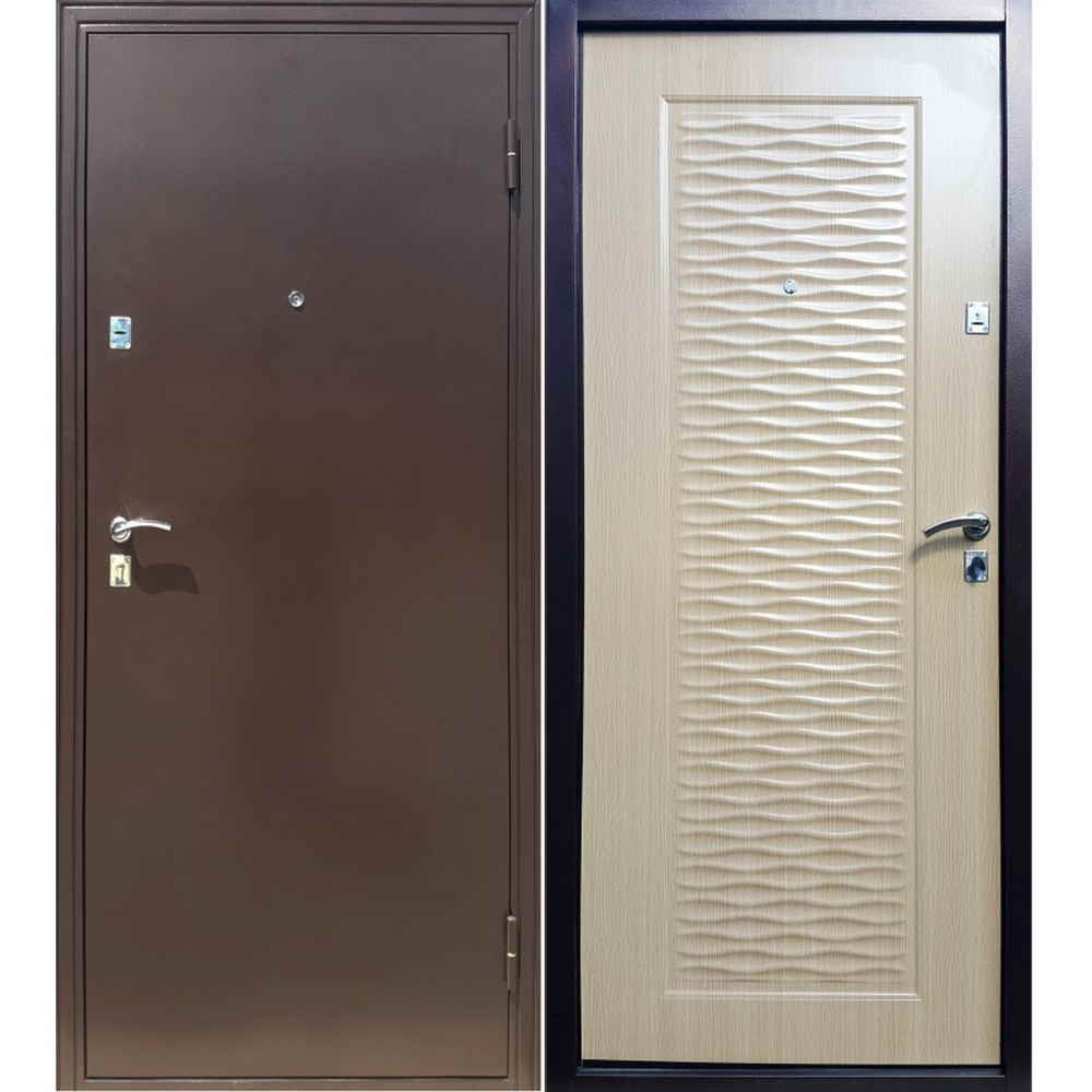 Металлическая входная дверь в квартиру Форпост Волна (Клён)