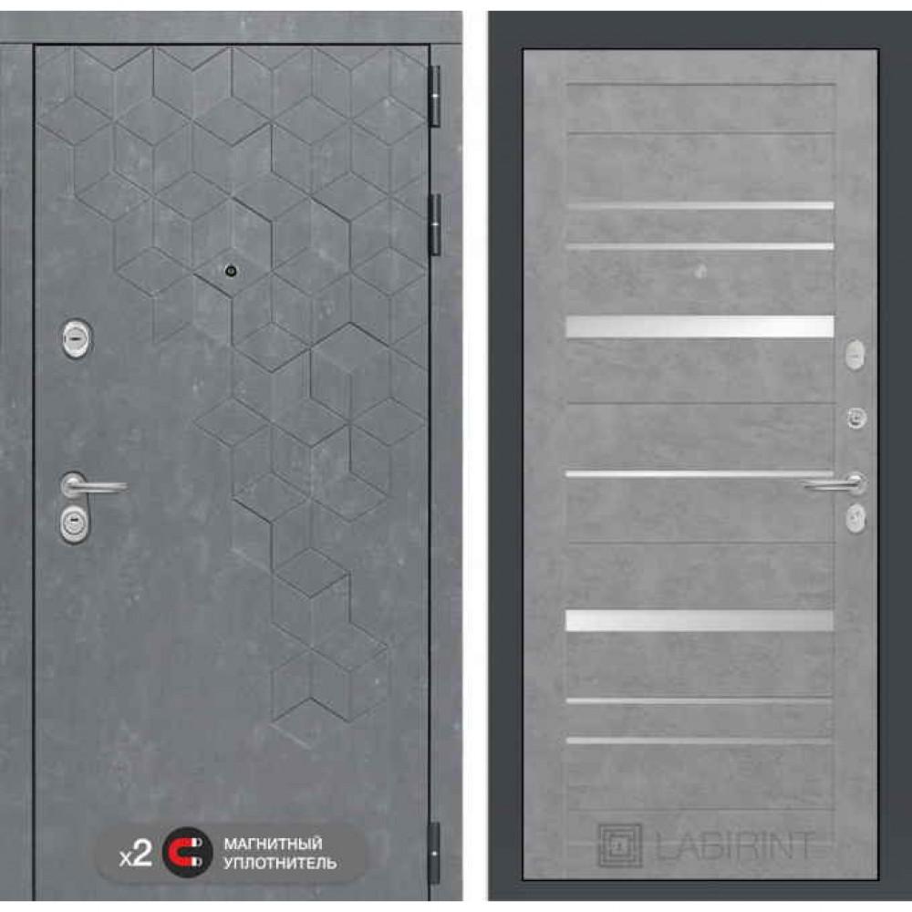 Входная дверь Лабиринт Бетон 20 Бетон светлый (трехконтурные)