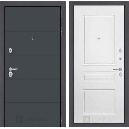 Входная дверь Лабиринт ART графит 03 - Белый софт (с шумоизоляцией)