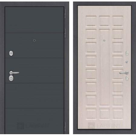 Входная дверь Лабиринт ART графит 04 - Беленый дуб (трехконтурные)