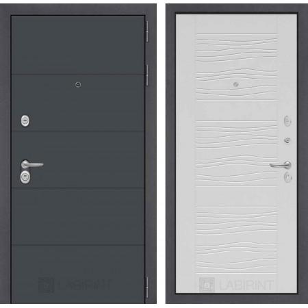 Входная дверь Лабиринт ART графит 06 - Сандал белый (трехконтурные)