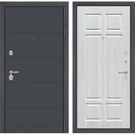 Входная дверь Лабиринт ART графит 08 - Кристалл вуд (с шумоизоляцией)