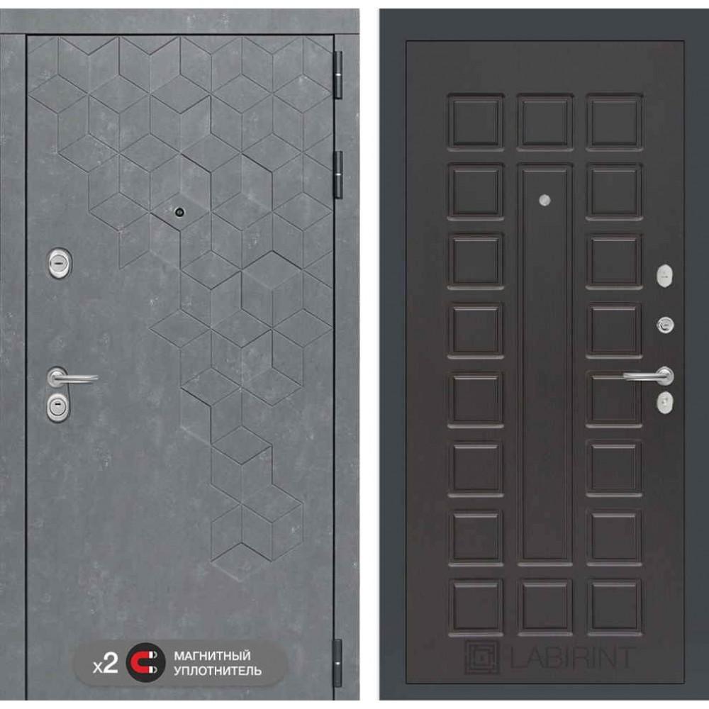 Входная дверь Лабиринт Бетон   04 - Венге ( с шумоизоляцией)
