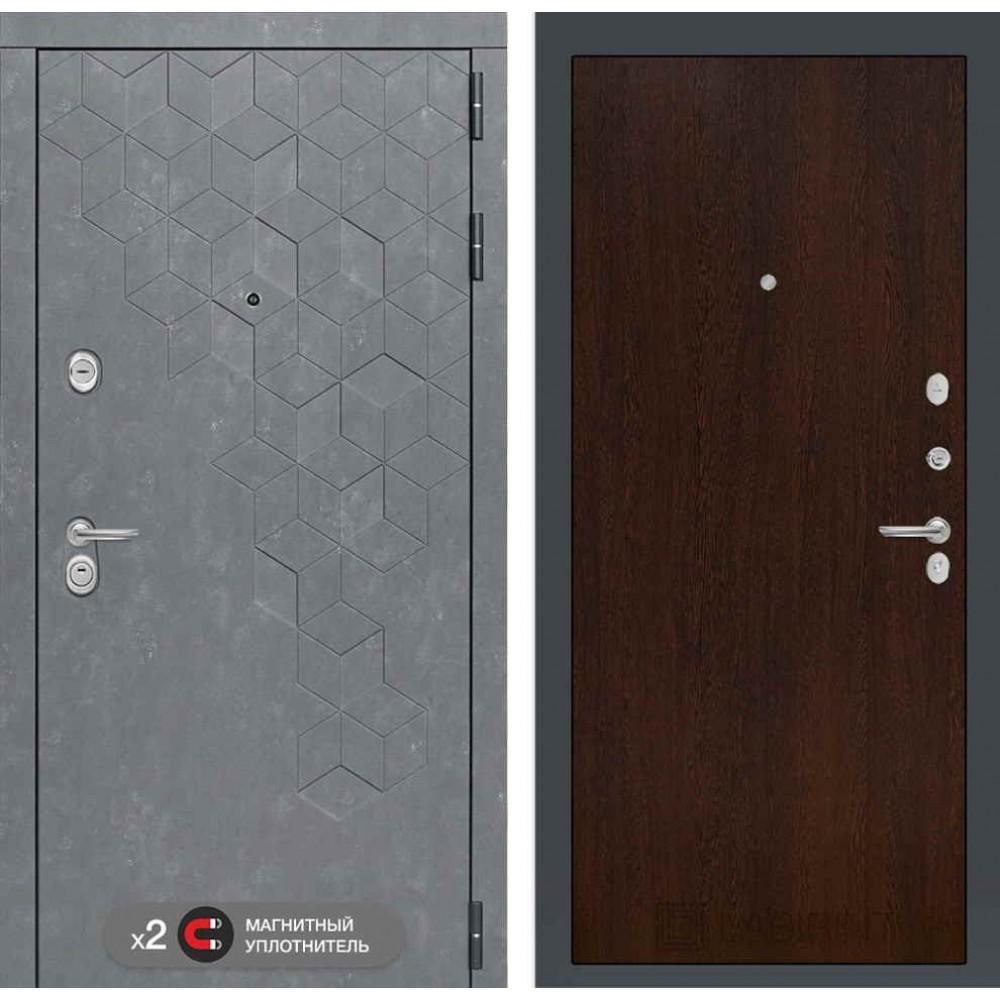 Входная дверь Лабиринт Бетон  05 - Венге ( трехконтурные )