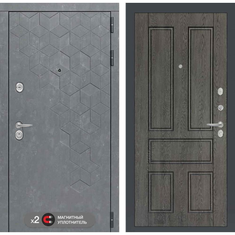 Входная дверь Лабиринт Бетон 10 - Дуб филадельфия графит ( сейфовые )