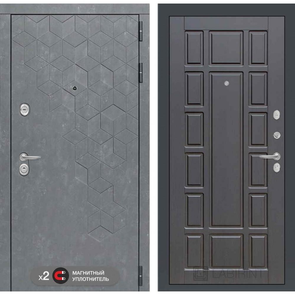 Входная дверь Лабиринт Бетон 12 - Венге ( трехконтурные)