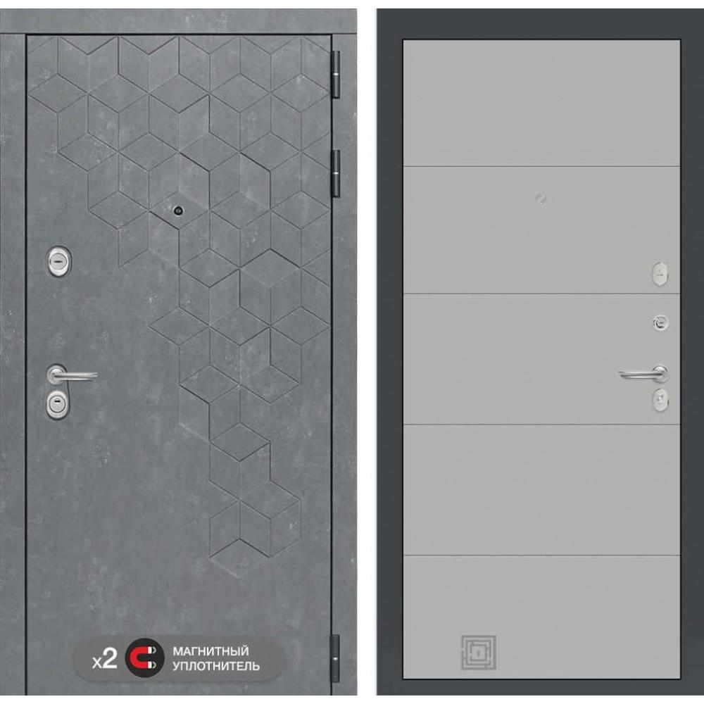 Входная дверь Лабиринт Бетон 13 - Грей софт (утепленные )