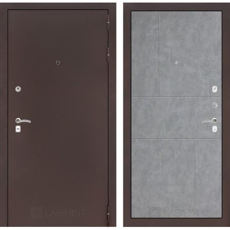 Входная дверь Лабиринт CLASSIC антик медный 21 - Бетон светлый (трехконтурные)