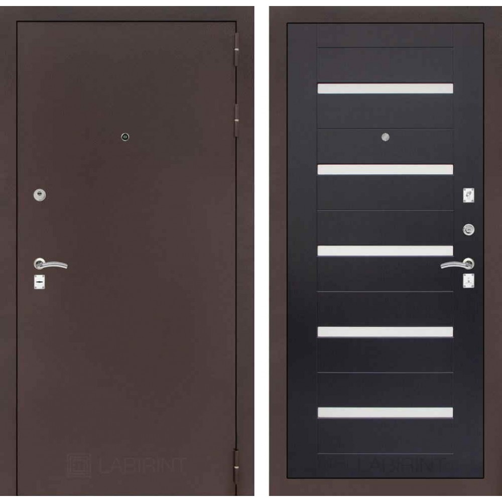 Входная дверь Лабиринт CLASSIC антик медный 01 - Венге (наружного открывания)