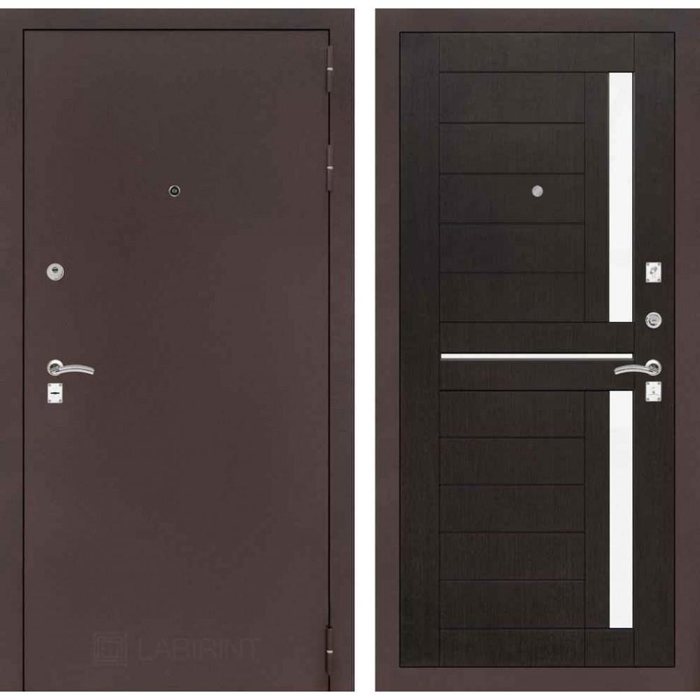 Входная дверь Лабиринт CLASSIC антик медный 02 - Венге (наружного открывания)