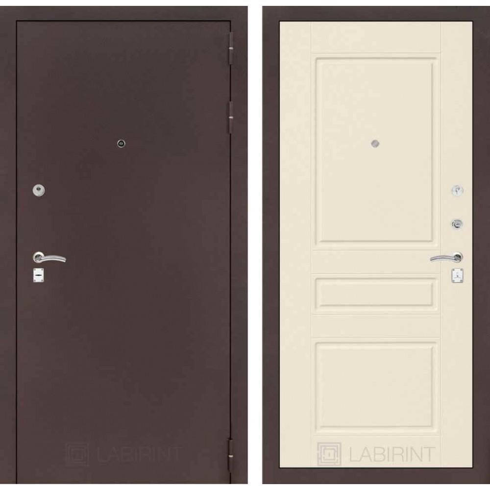 Входная дверь Лабиринт CLASSIC антик медный 03 - Крем софт (наружного открывания)