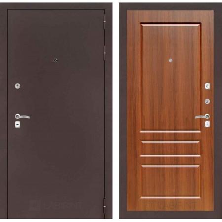 Входная дверь Лабиринт CLASSIC антик медный 03 - Орех бренди (с шумоизоляцией)