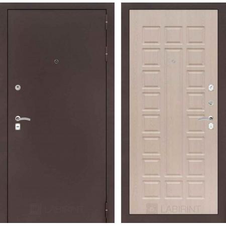 Входная дверь Лабиринт CLASSIC антик медный 04 - Беленый дуб (трехконтурные)