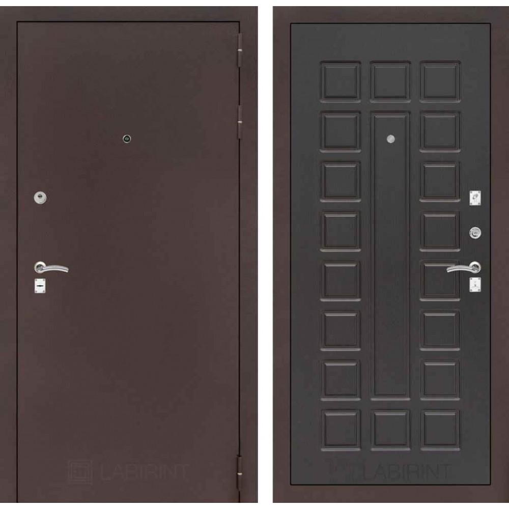 Входная дверь Лабиринт CLASSIC антик медный 04 - Венге (трехконтурные)