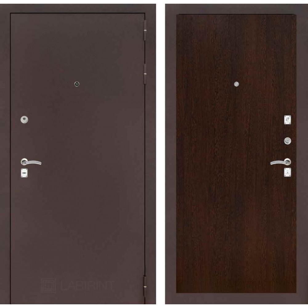 Входная дверь Лабиринт CLASSIC антик медный 05 - Венге ( антивандальные)