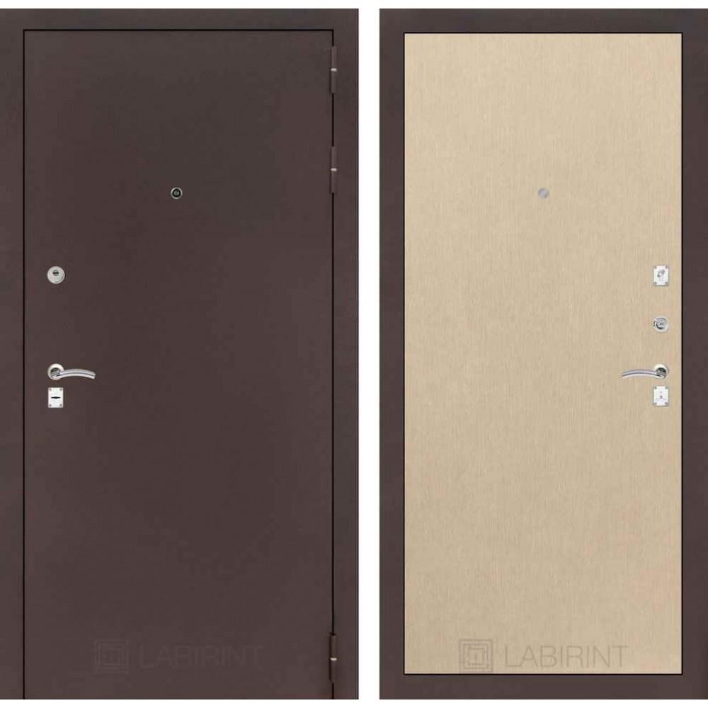 Входная дверь Лабиринт CLASSIC антик медный 05 - Венге светлый  (утепленные)