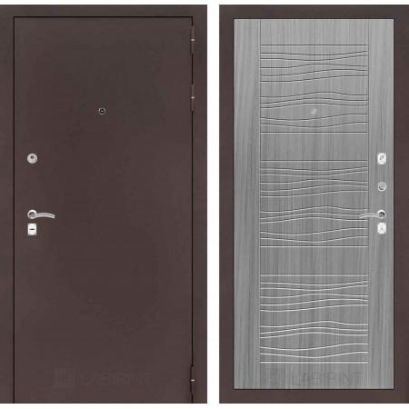 Входная дверь Лабиринт CLASSIC антик медный 06 - Сандал серый (трехконтурные)