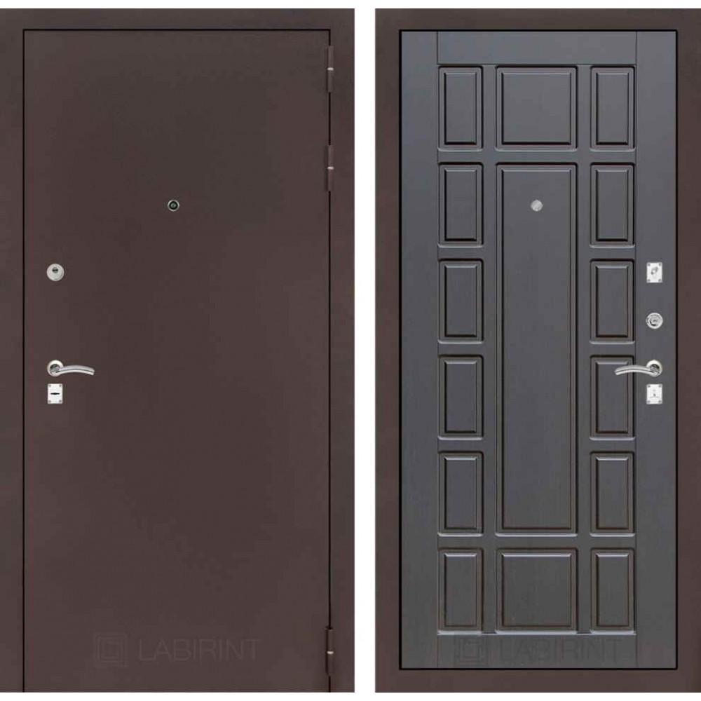 Входная дверь Лабиринт CLASSIC антик медный 12 - Венге (утепленные )