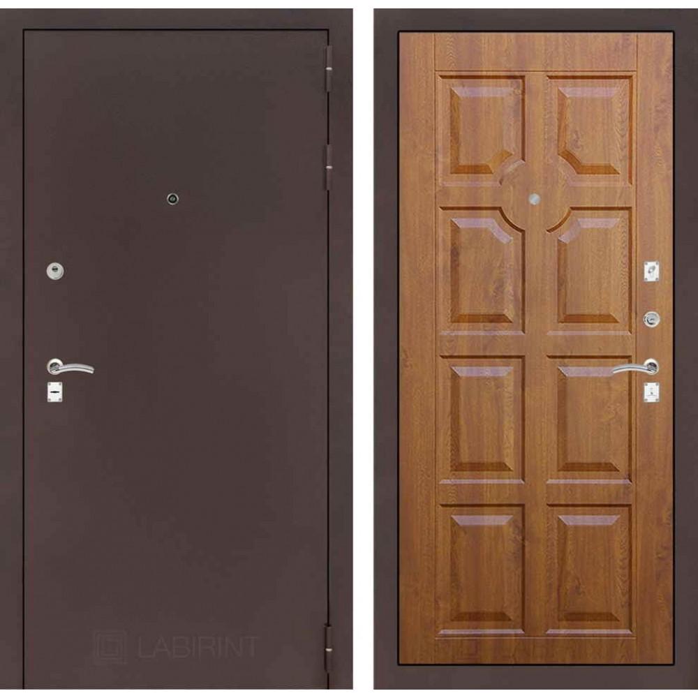 Входная дверь Лабиринт CLASSIC антик медный 17 - Золотой дуб (с шумоизоляцией)