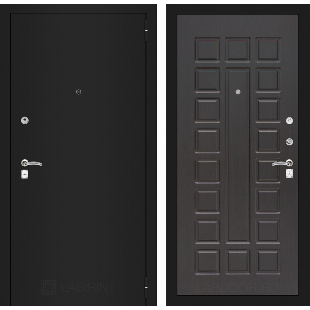 Входная дверь Лабиринт CLASSIC шагрень черная 04 - Венге (с шумоизоляцией)
