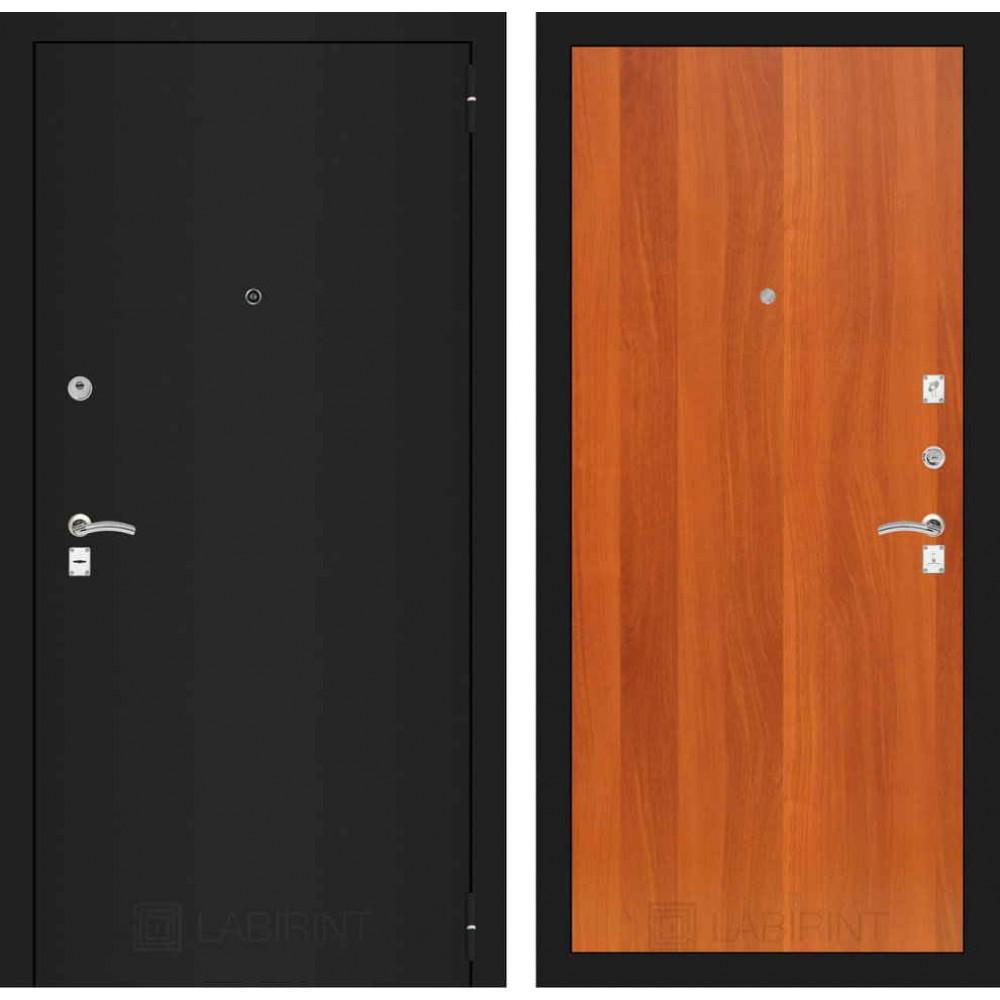 Входная дверь Лабиринт CLASSIC шагрень черная 05 - Итальянский орех (утепленные)