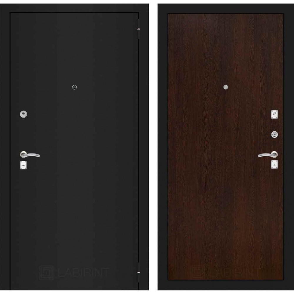 Входная дверь Лабиринт CLASSIC шагрень черная 05 - Венге (трехконтурные)