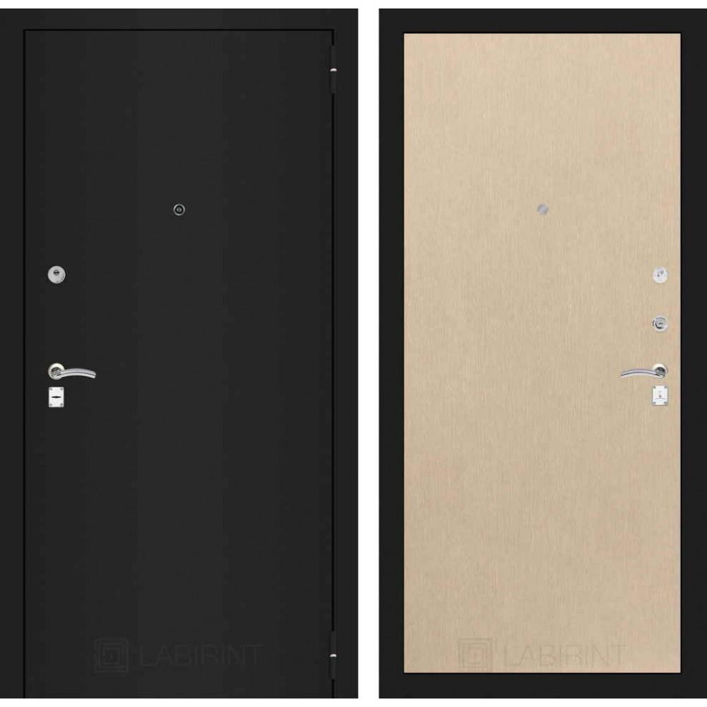 Входная дверь Лабиринт CLASSIC шагрень черная 05 - Венге светлый (с шумоизоляцией)