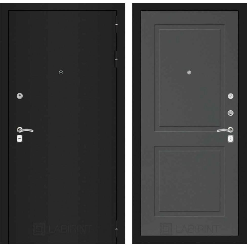 Входная дверь Лабиринт CLASSIC шагрень черная 11 - Графит софт (утепленные)