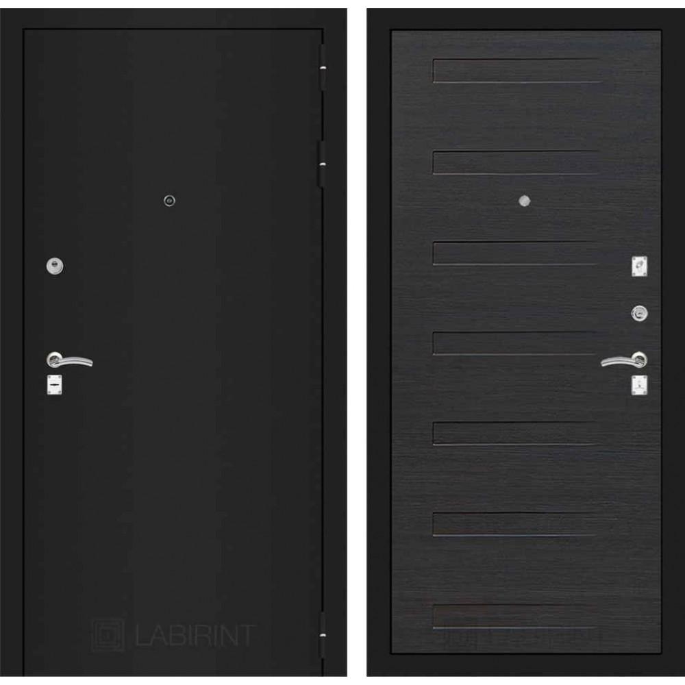 Входная дверь Лабиринт CLASSIC шагрень черная 14 - Эковенге (с шумоизоляцией)