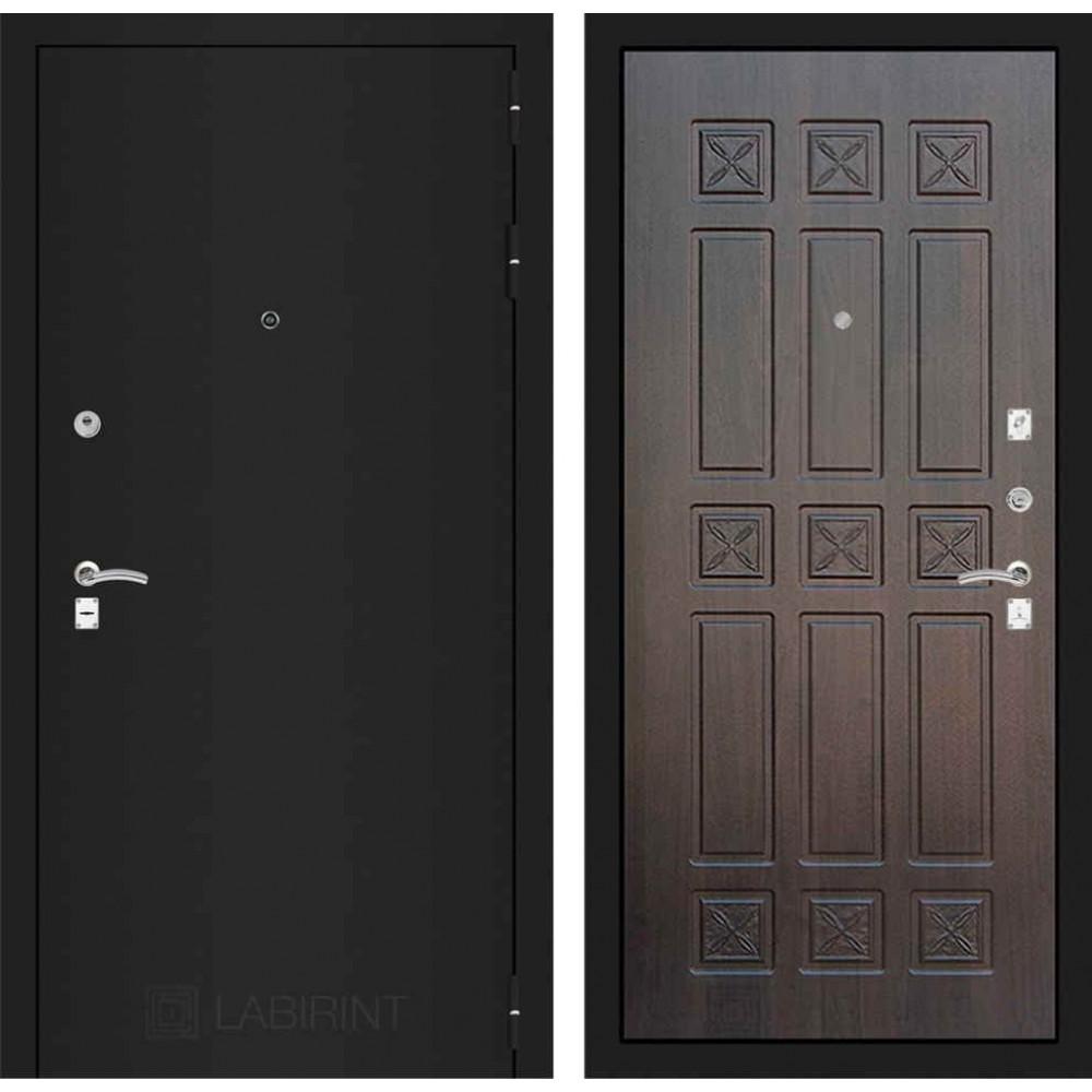 Входная дверь Лабиринт CLASSIC шагрень черная 16 - Алмон 28 (трехконтурные )