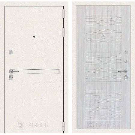 Входная дверь Лабиринт LINE WHITE 06 - Сандал белый (трехконтурные)