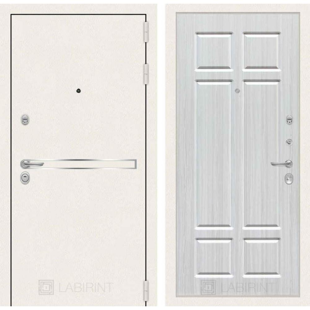 Входная дверь Лабиринт LINE WHITE 08 - Кристалл вуд ( утепленные)