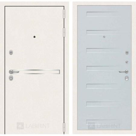 Входная дверь Лабиринт LINE WHITE 14 - Дуб кантри белый горизонтальный (утепленные)