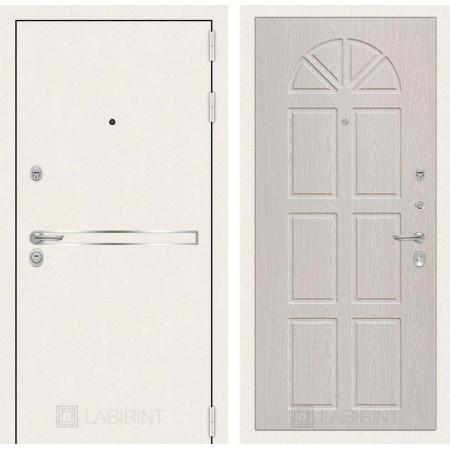 Входная дверь Лабиринт LINE WHITE 15 - Алмон 25 (утепленные )