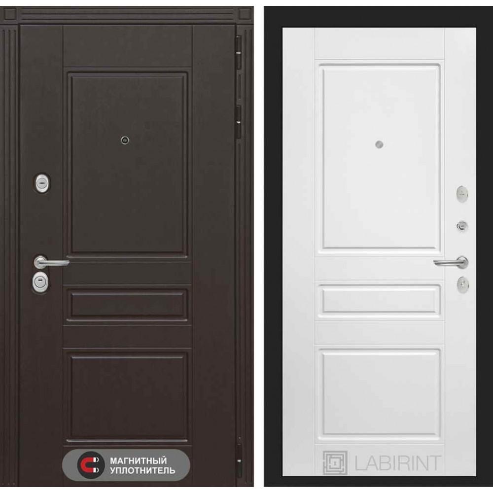 Входная дверь Лабиринт МЕГАПОЛИС 03 - Белый софт (утепленные)
