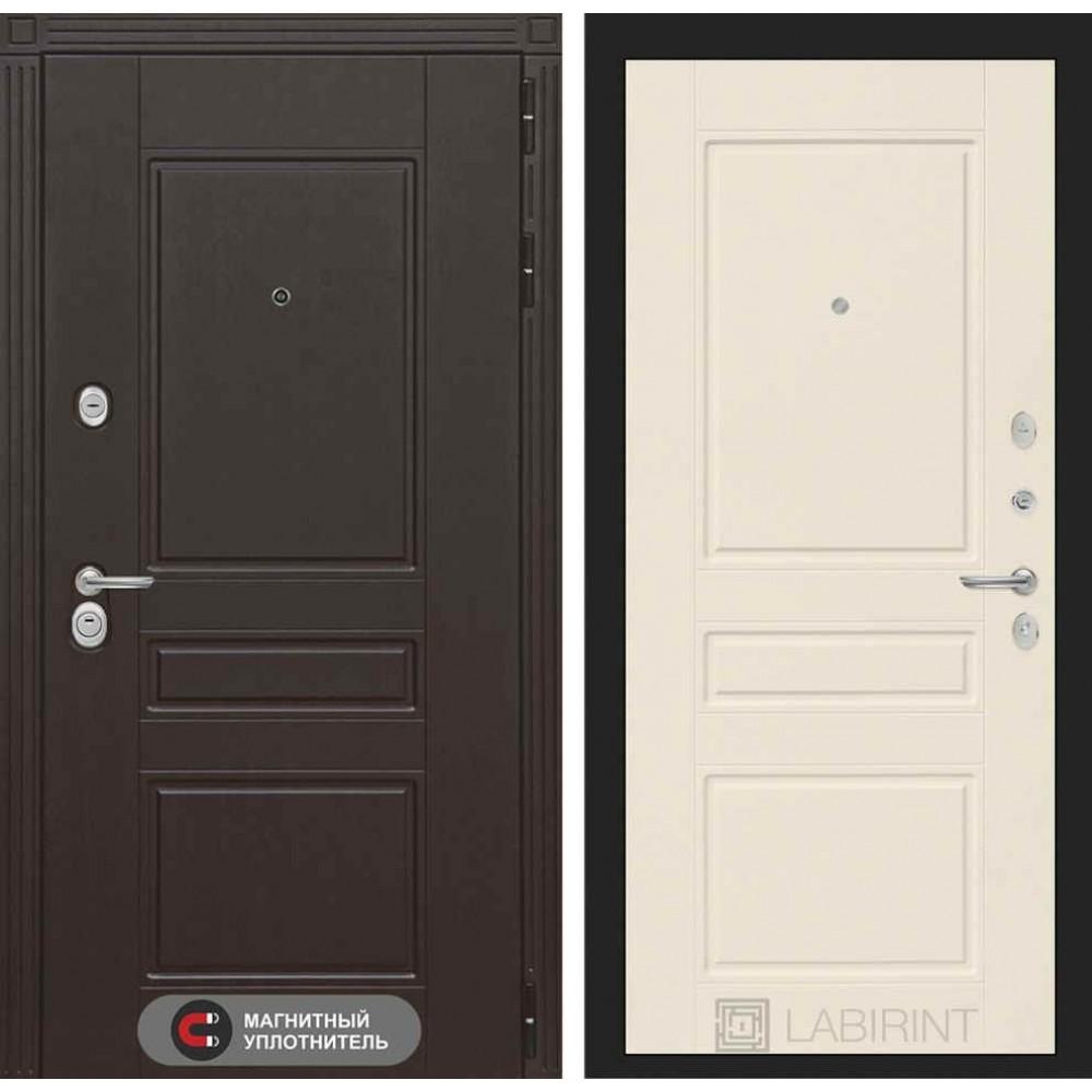 Входная дверь Лабиринт МЕГАПОЛИС 03 - Крем софт (трехконтурные)