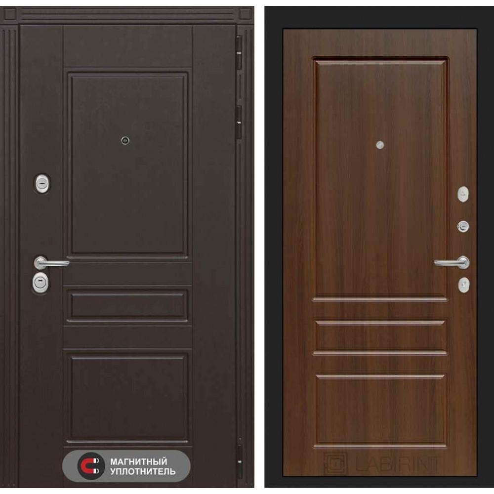 Входная дверь Лабиринт МЕГАПОЛИС 03 - Орех бренди (утепленные)