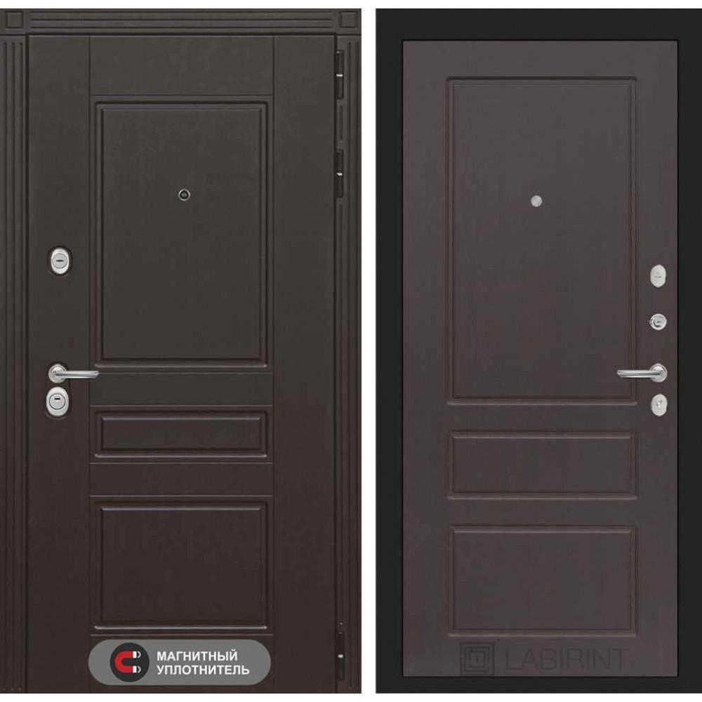 Входная дверь Лабиринт МЕГАПОЛИС 03 - Орех премиум (трехконтурные)