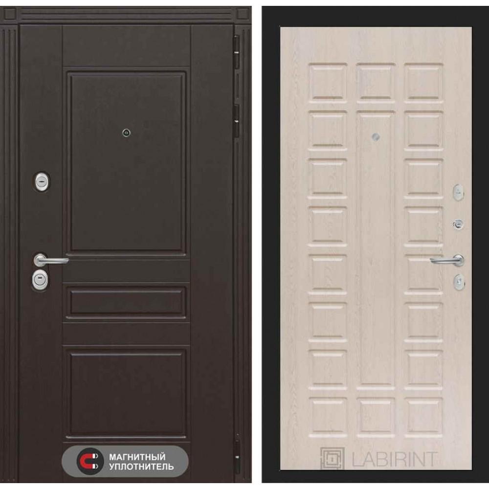 Входная дверь Лабиринт МЕГАПОЛИС 04 - Беленый дуб (утепленные)
