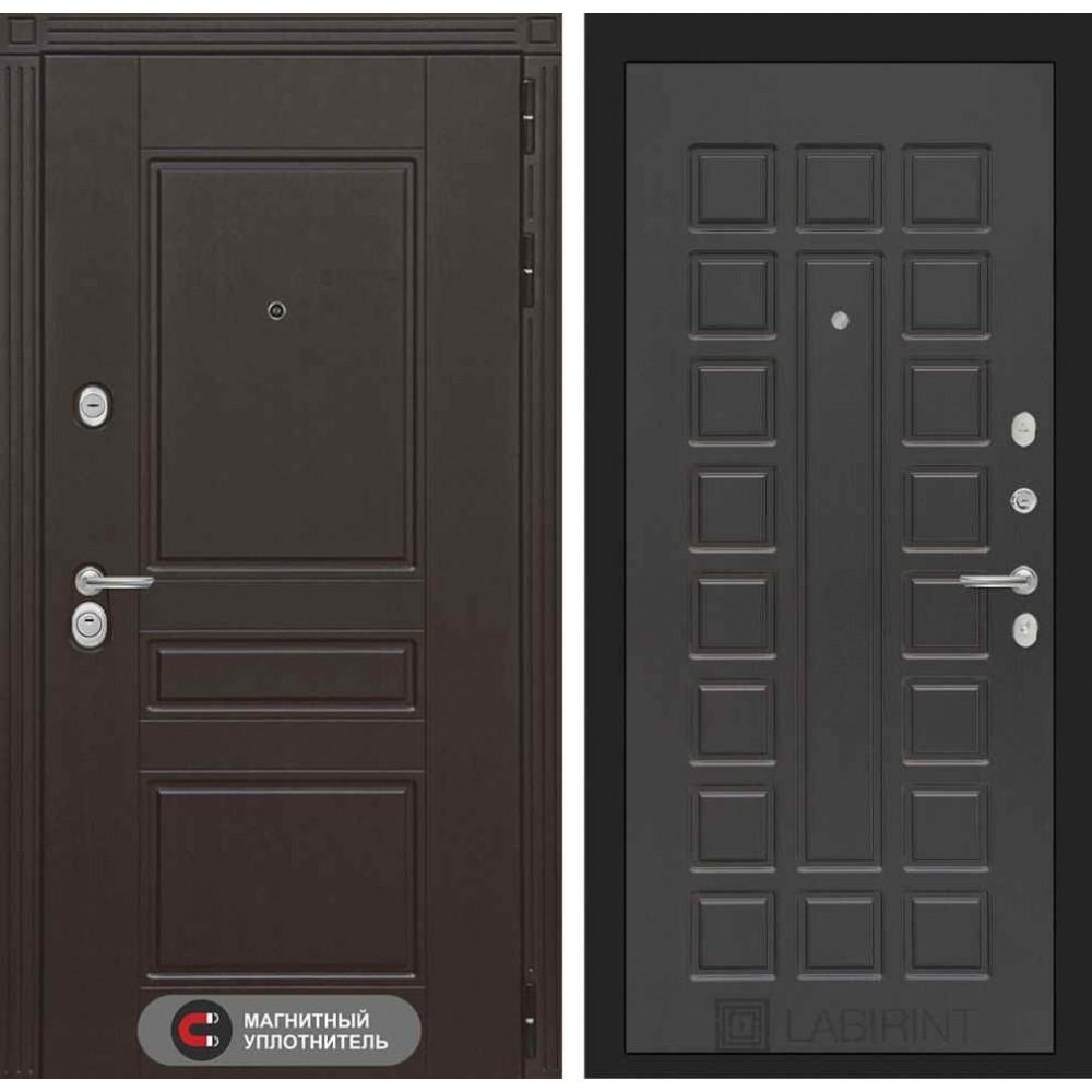 Входная дверь Лабиринт МЕГАПОЛИС 04 - Венге (утепленные)