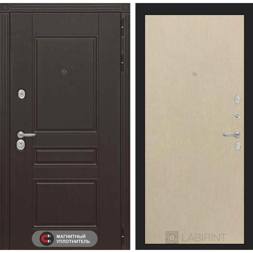 Входная дверь Лабиринт МЕГАПОЛИС 05 - Венге светлый (трехконтурные)