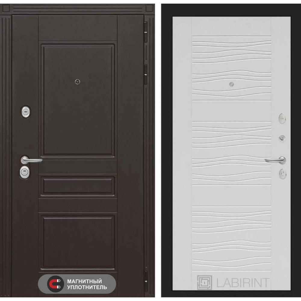 Входная дверь Лабиринт МЕГАПОЛИС 06 - Белое дерево (с шумоизоляцией)