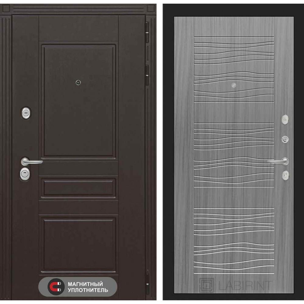 Входная дверь Лабиринт МЕГАПОЛИС 06 - Сандал серый (трехконтурные)