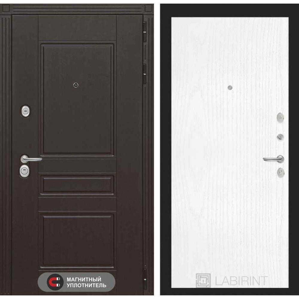 Входная дверь Лабиринт МЕГАПОЛИС 07 - Белое дерево (трехконтурные)