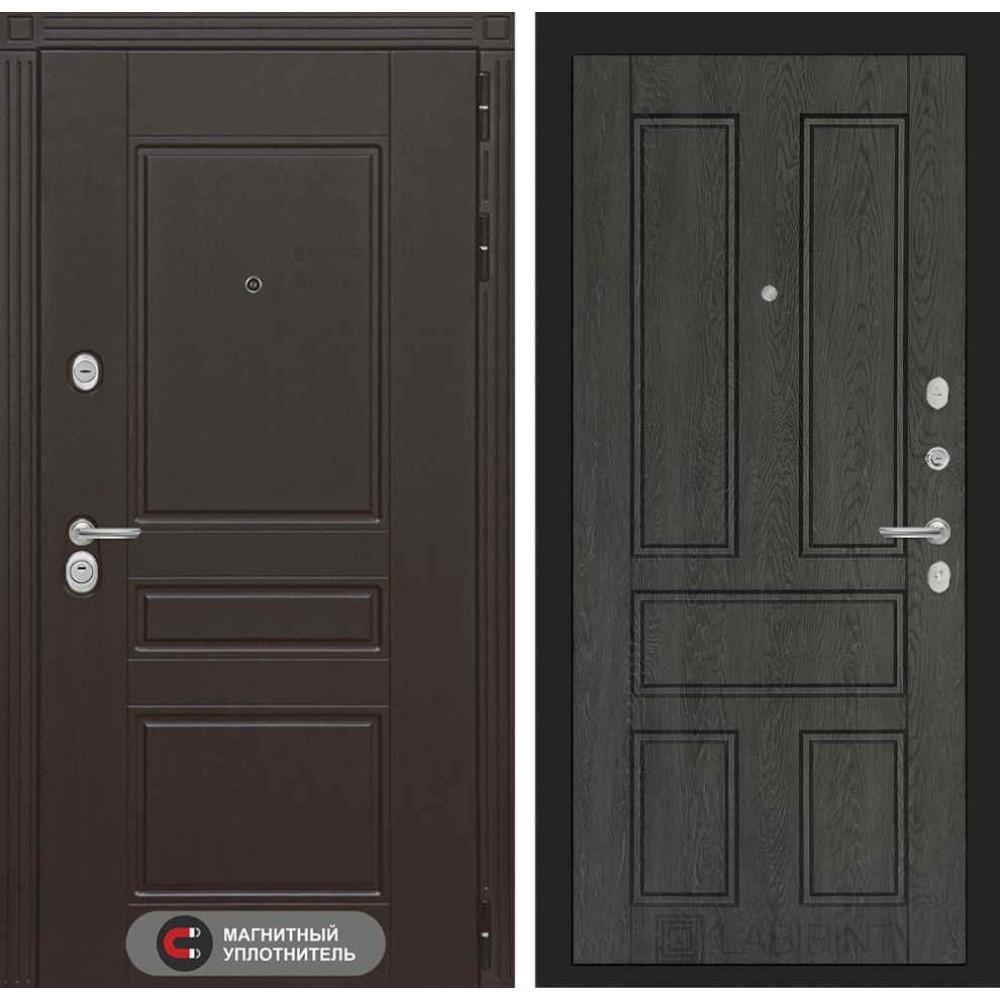 Входная дверь Лабиринт МЕГАПОЛИС 10 - Дуб филадельфия графит (город Йошкар-Ола.)