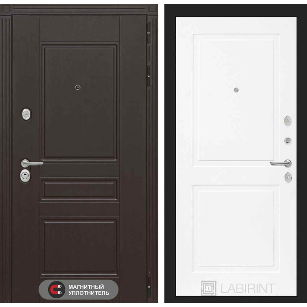 Входная дверь Лабиринт МЕГАПОЛИС 11 - Белый софт (трехконтурные)