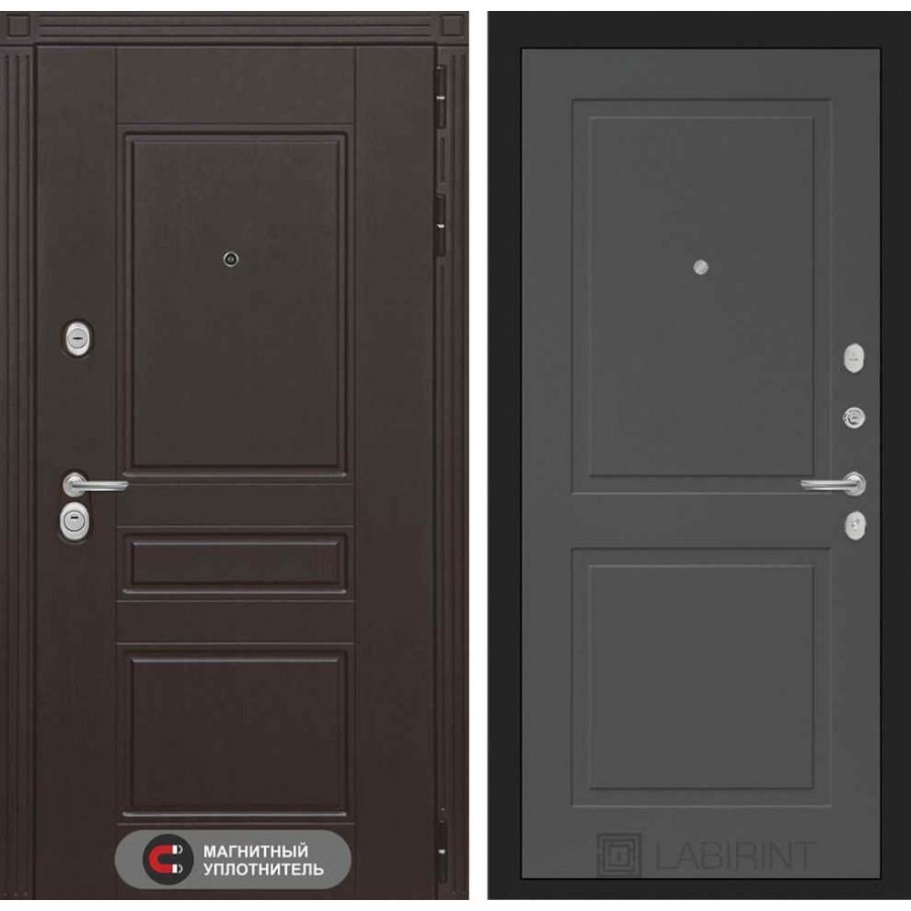 Входная дверь Лабиринт МЕГАПОЛИС 11 - Графит софт (утепленные)