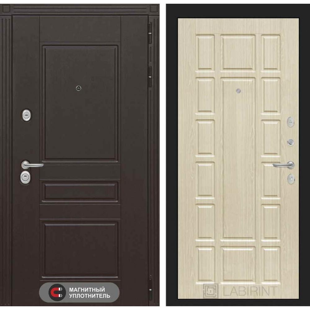 Входная дверь Лабиринт МЕГАПОЛИС 12 - Беленый дуб (трехконтурные)