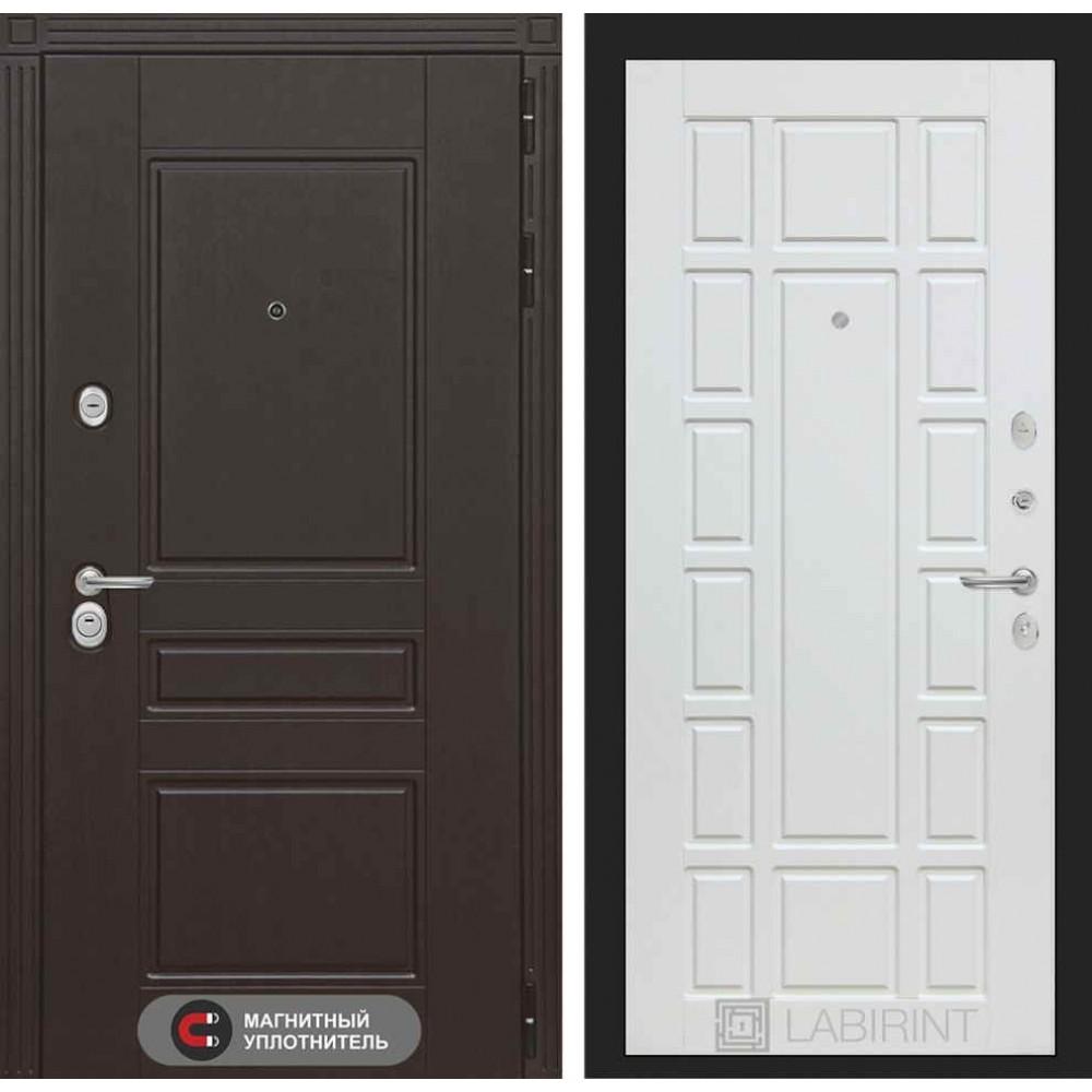 Входная дверь Лабиринт МЕГАПОЛИС 12 - Белое дерево (с шумоизоляцией)
